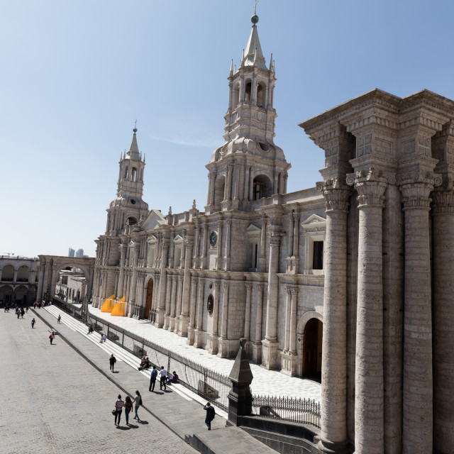 """""""Cathedral in Arequipa"""" stock image"""