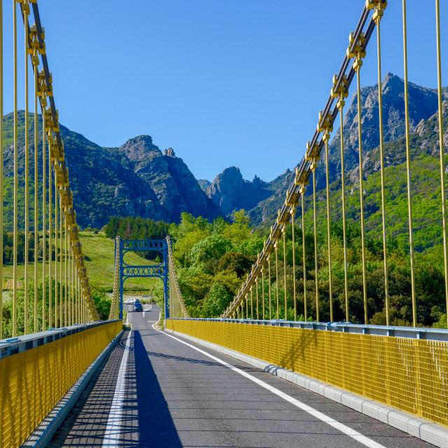 """Colorful bridge"" stock image"