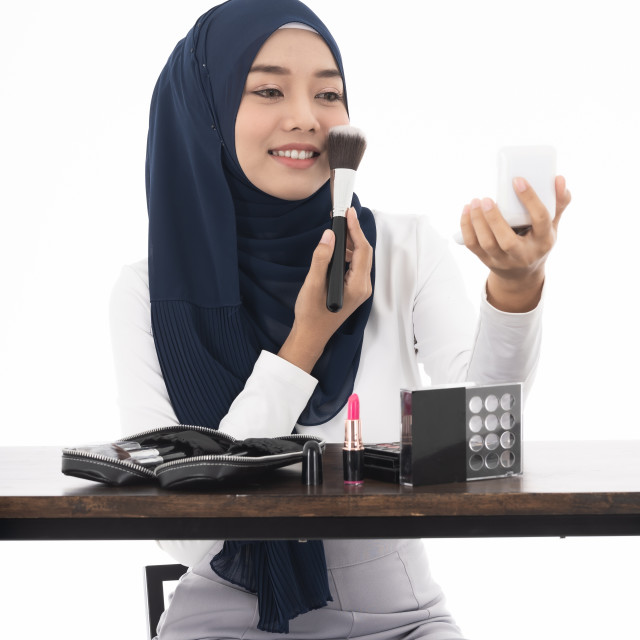 """Muslim face beauty cosmetic"" stock image"