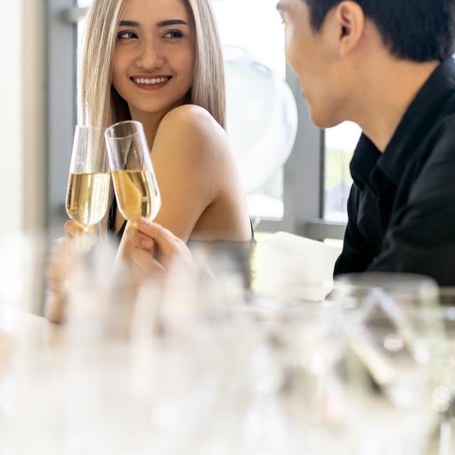 """Couple celebrate new year party"" stock image"