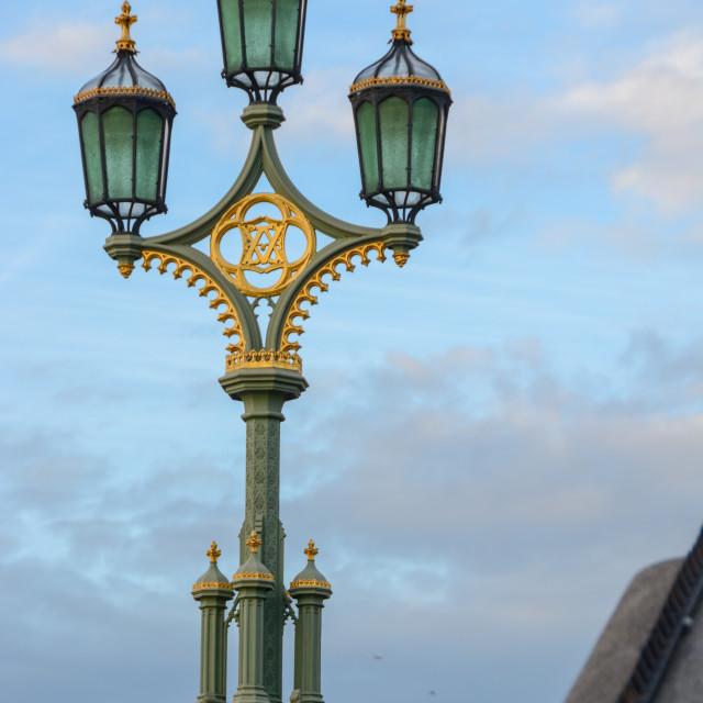 """A London streetlight"" stock image"