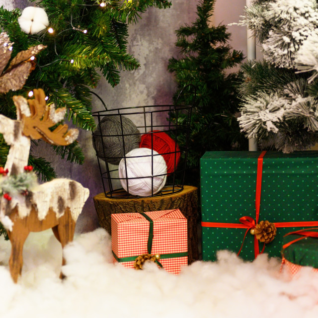 """""""Merry christmas. Cute festive decoration close up. Beautiful toy"""" stock image"""