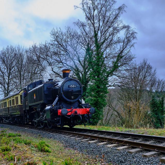"""""""GWR 1500 Class 0-6-0PT No.1501"""" stock image"""