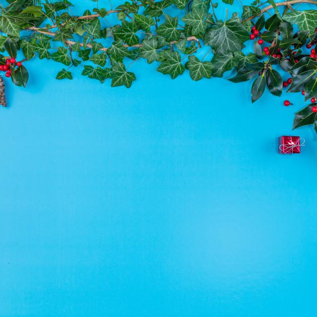 """""""Christmas backdrop"""" stock image"""