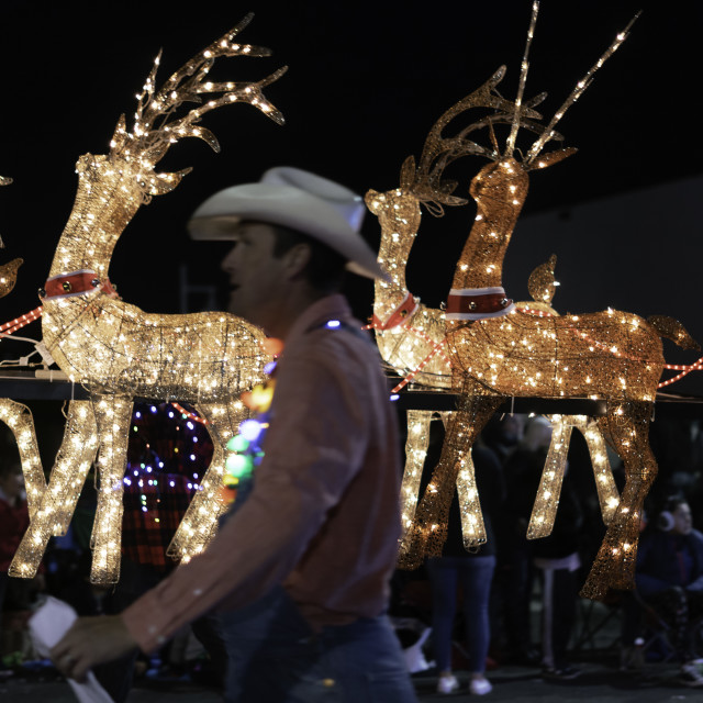 """Twinkle Parade Albuquerque, NM 12/7/2019"" stock image"