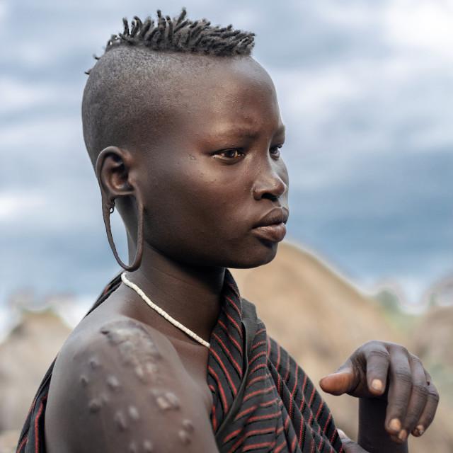 """""""mursi tribe in omo valley"""" stock image"""