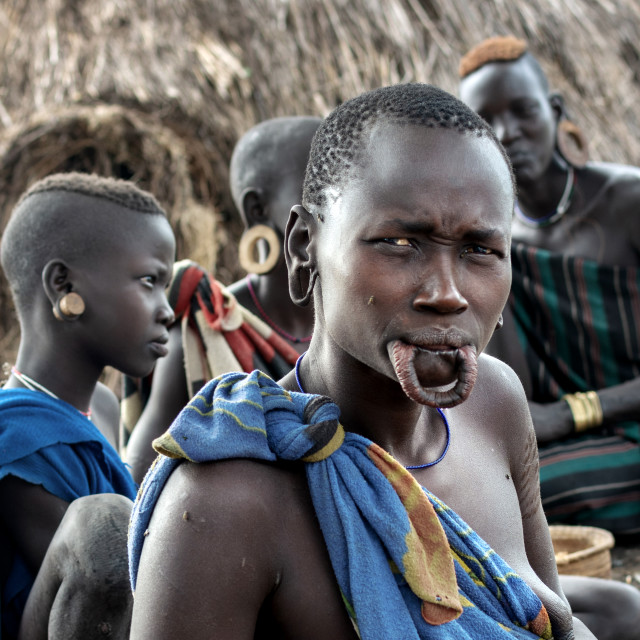 """""""mursi tribe in south omo valley"""" stock image"""