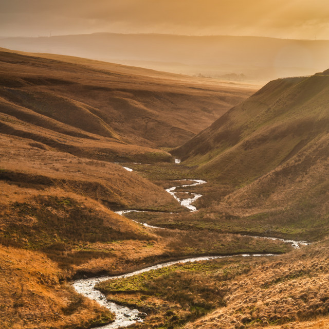 """""""Winding valley"""" stock image"""