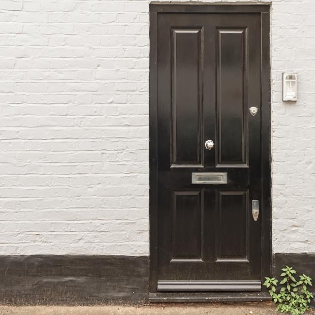 """""""Black Door In London"""" stock image"""