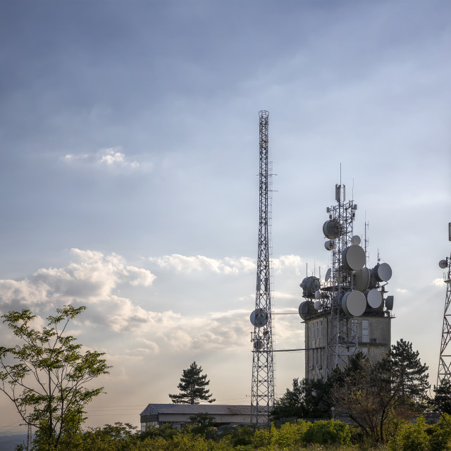 """""""Mobile communication tower"""" stock image"""