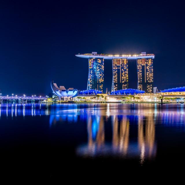 """Marina Sands"" stock image"