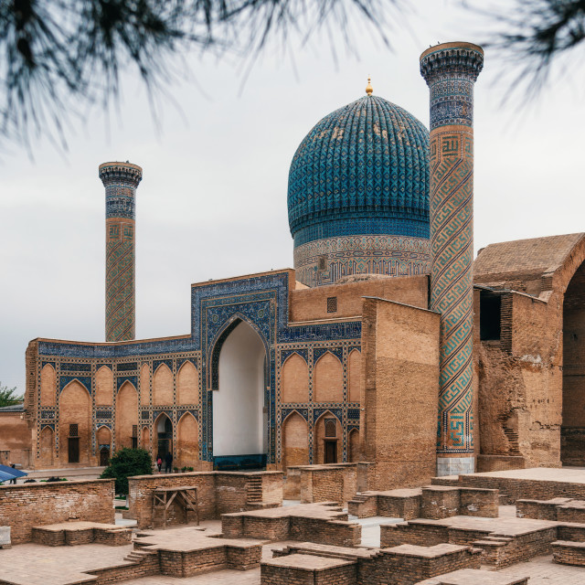 """Ancient Gur Emir mausoleum in Samarkand, Uzbekistan"" stock image"