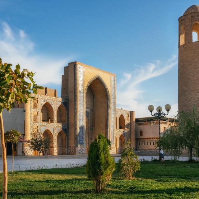 """Ulugh Beg Madrasa in Bukhara, Uzbekistan"" stock image"