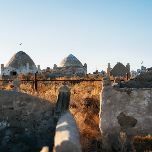 """Central Asian muslim cemetery in Kazakhstan"" stock image"