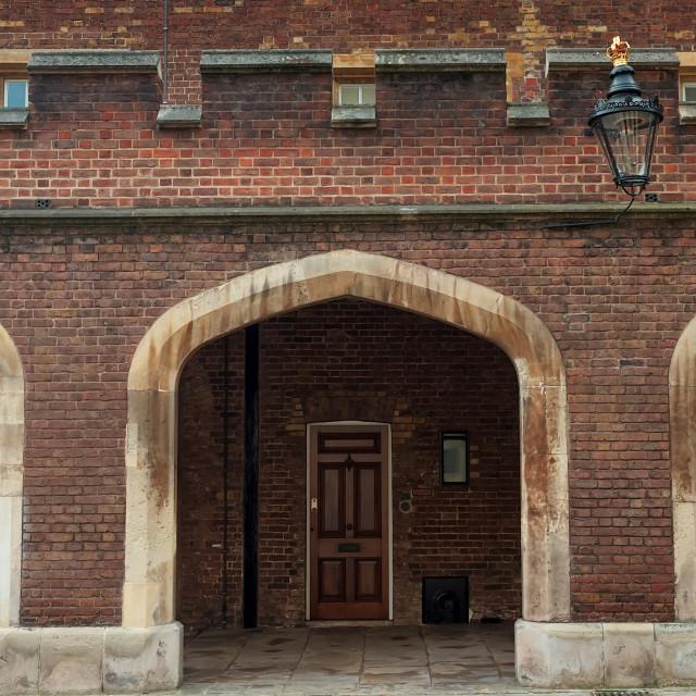 """Entrance to St. James Palace"" stock image"