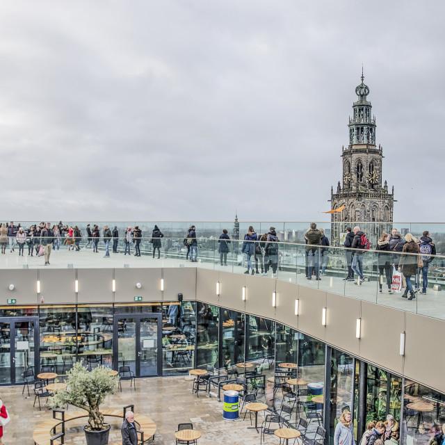 """""""Forum Groningen roof terrace"""" stock image"""