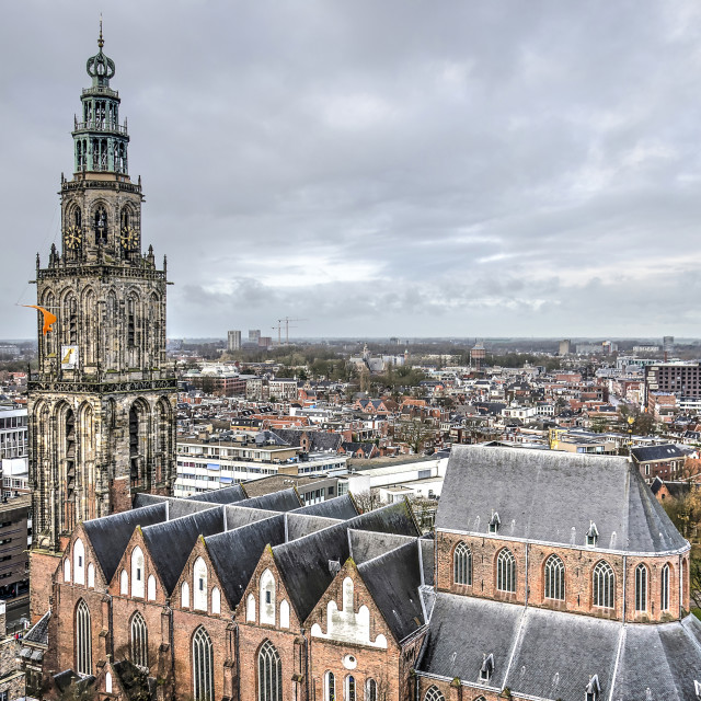 """""""Aerial view of Martini church"""" stock image"""