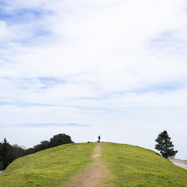 """Mount Tamalpais Overlook"" stock image"
