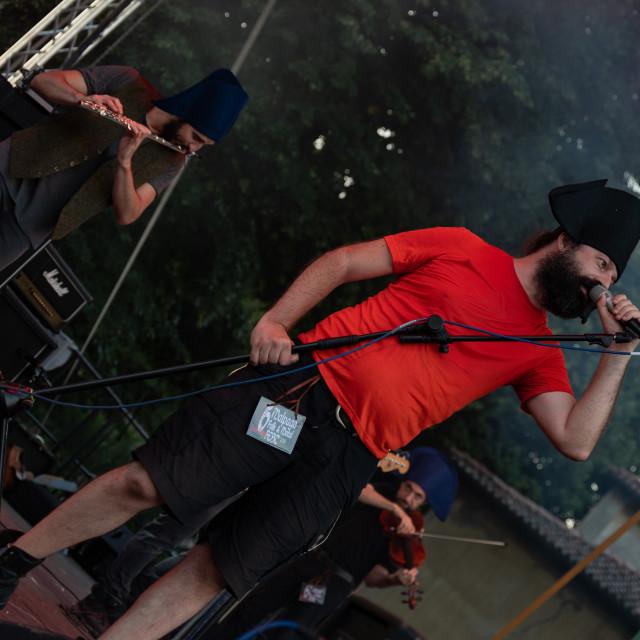 """Kalevala hms @ Malpaga Folk and Metal Fest (BG) 29-07-2018"" stock image"