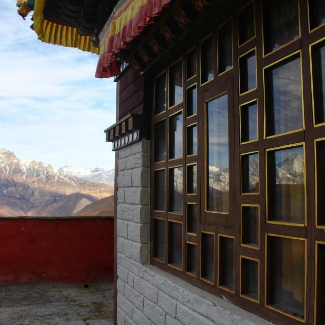 """Annapurna Massif"" stock image"