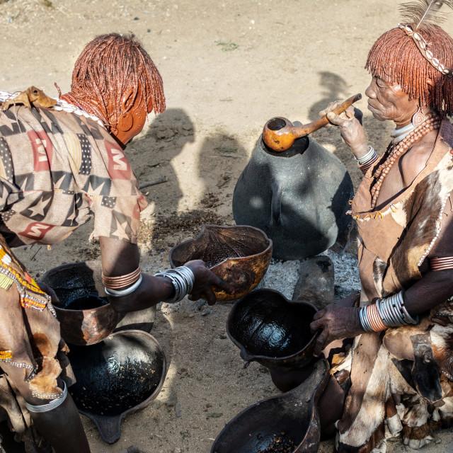 """Hamar tribe ethiopia"" stock image"