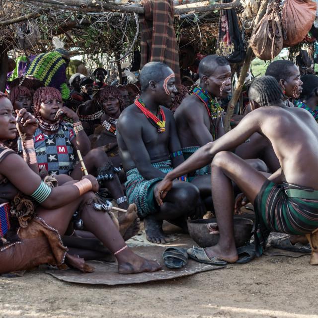 """hamer tribe omo valley ethiopia"" stock image"