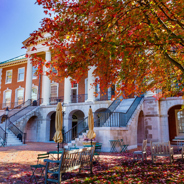 """Reynolda Hall at Wake Forest University"" stock image"