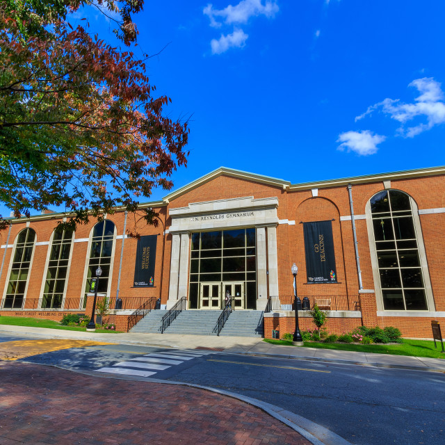 """Reynolds Gymnasium at Wake Forest University"" stock image"