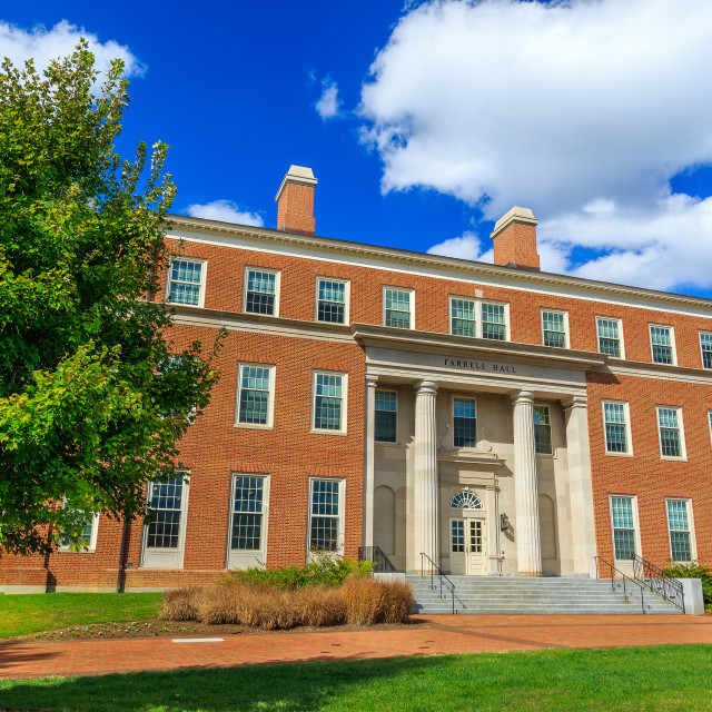 """Farrell Hall at Wake Forest University"" stock image"