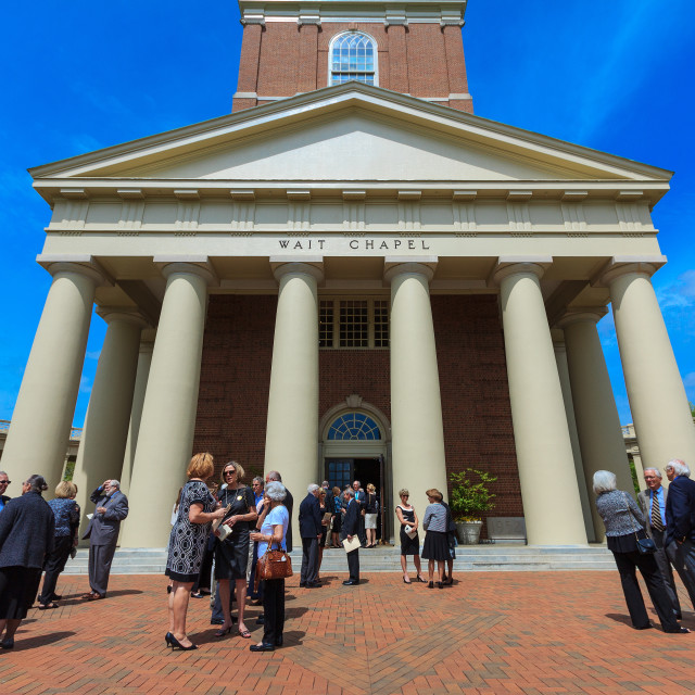 """Wait Chapel at Wake Forest University"" stock image"