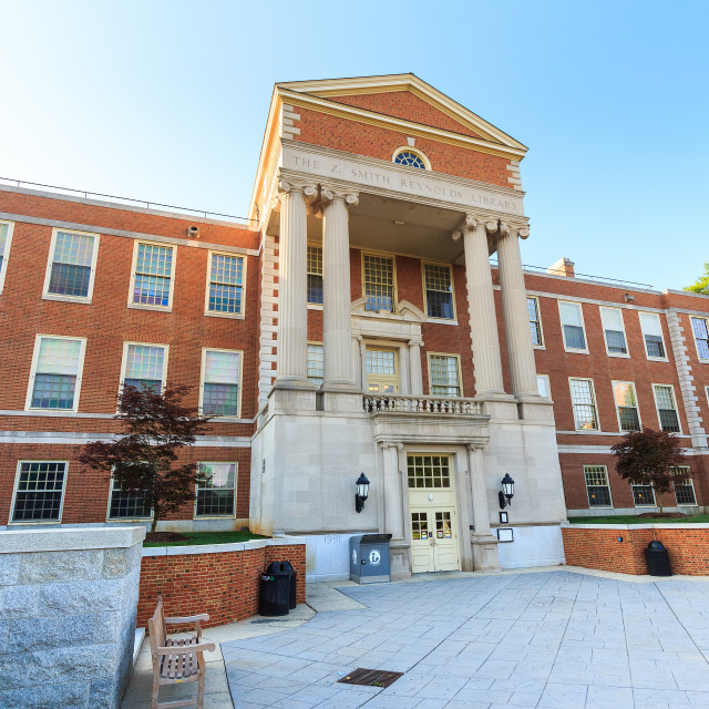 """Z. Smith Reynolds Library at WFU"" stock image"