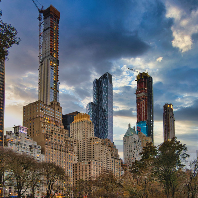 """""""Reaching for the sky in Manhattan"""" stock image"""
