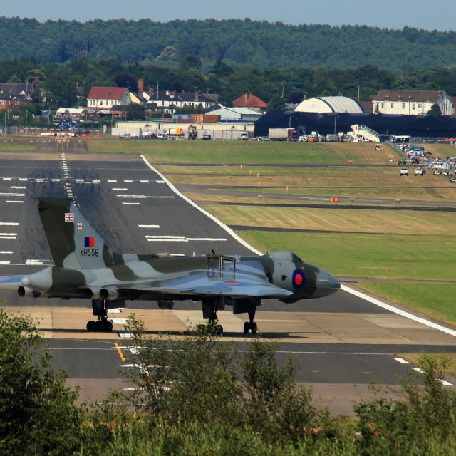 """""""Avro Vulcan Bomber"""" stock image"""