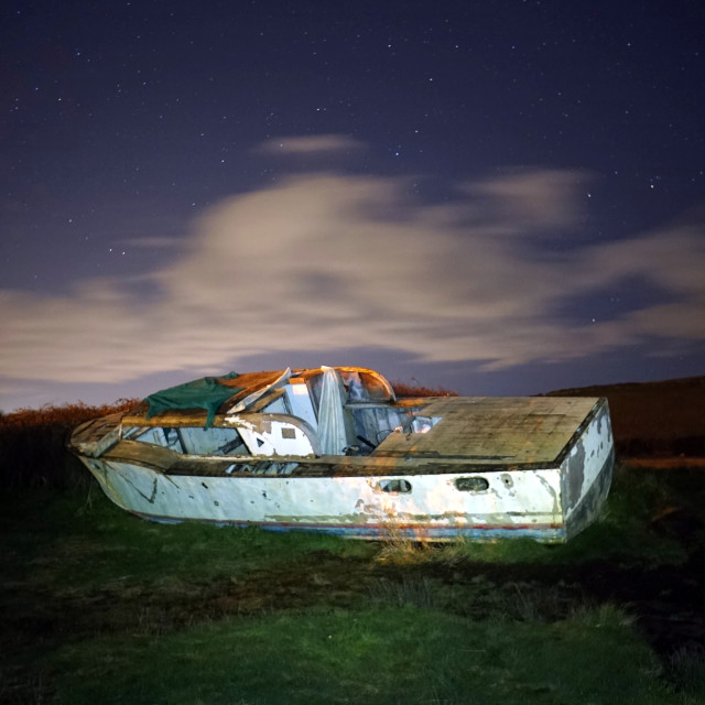 """""""Boat by The gannel"""" stock image"""