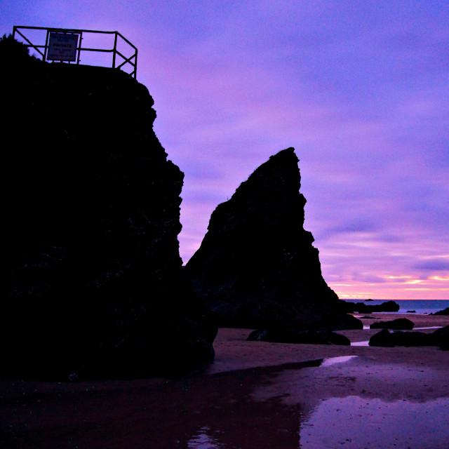 """Great Western sundown"" stock image"