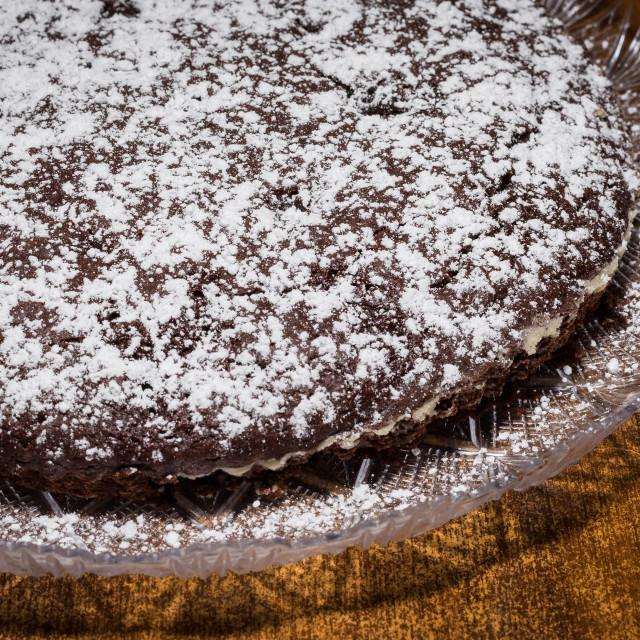 """Torta Caprese (Caprese cake)"" stock image"