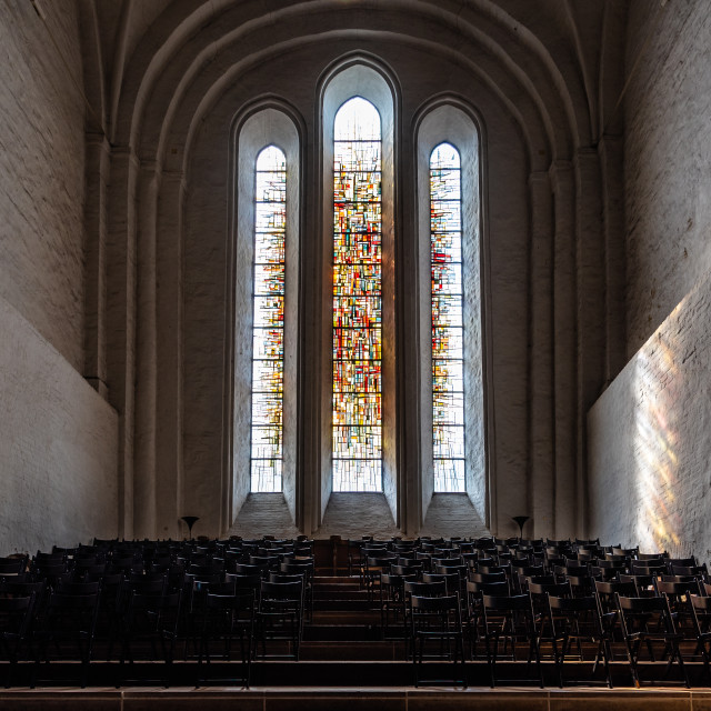 """Interior of the Cathedral of Lubeck, Germany."" stock image"