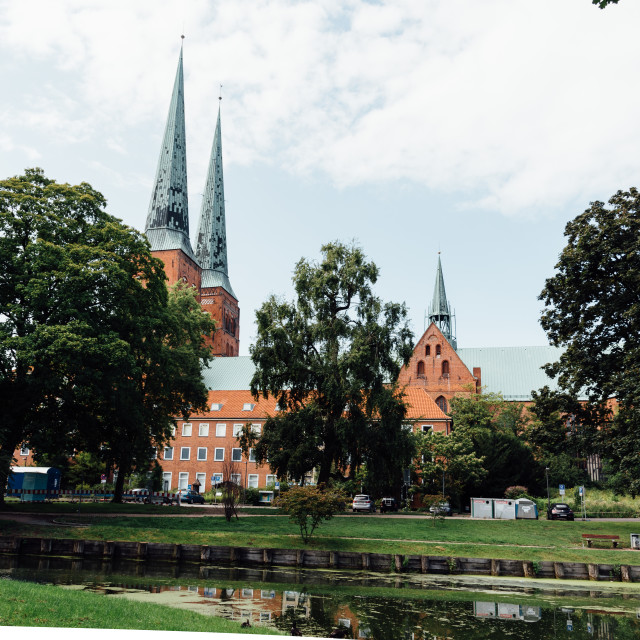 """Scenic view of the Cathedral of Lubeck"" stock image"