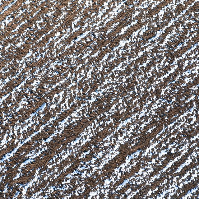 """The plowed field in winter."" stock image"