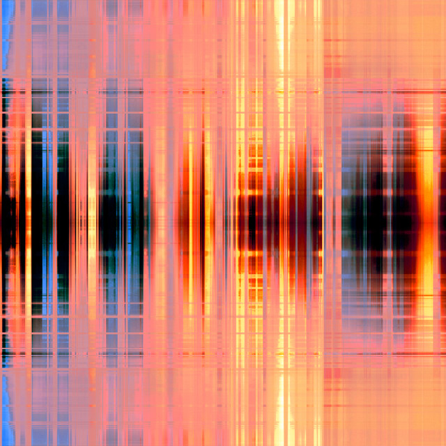 """Orange blurred stripes background"" stock image"