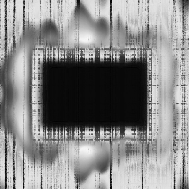 """Black and white grunge frame"" stock image"