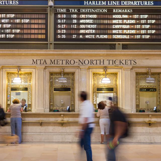 """Central Park Station"" stock image"