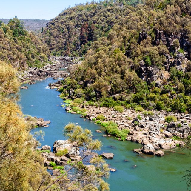 """South Esk River - Launceston"" stock image"