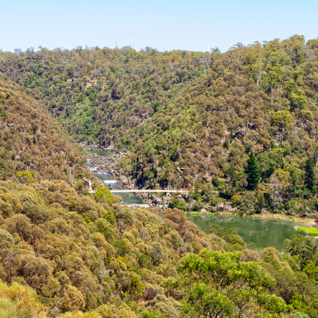 """Cataract Gorge and First Basin - Launceston"" stock image"