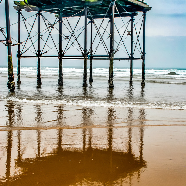 """End of the pier - Saltburn, Cleveland UK"" stock image"