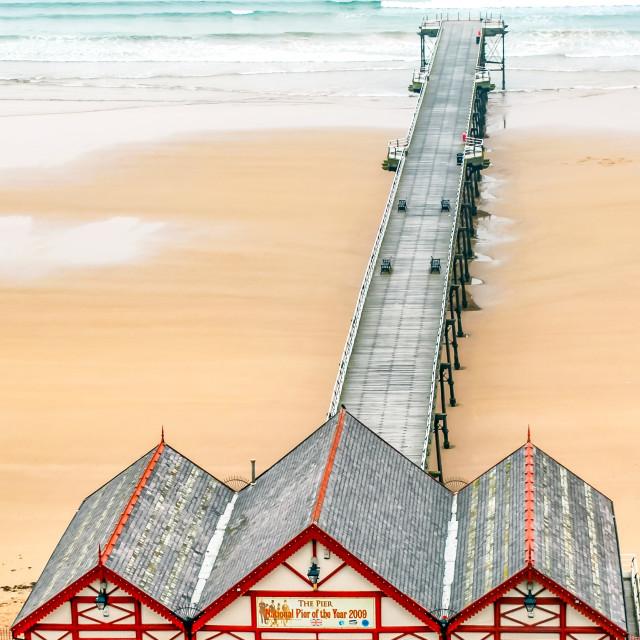 """Pier at Saltburn"" stock image"