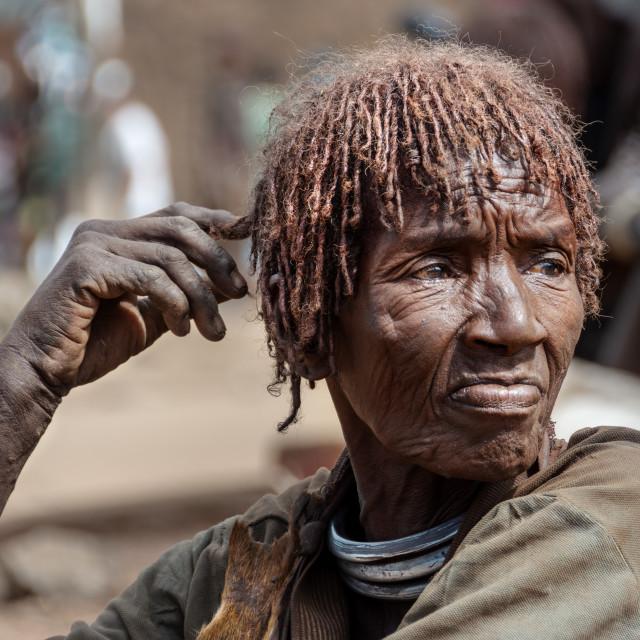 """hamar market near turmi ethiopia"" stock image"