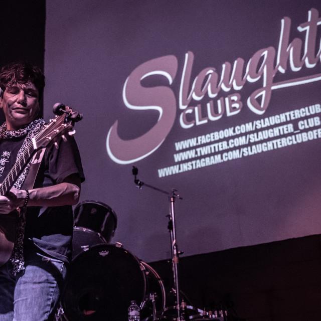 """Eric Martin at Slaughter Club (MI) 23-09-2018"" stock image"