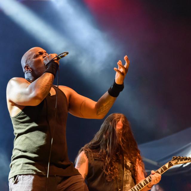 """Sepultura at Metal for Emergency 2018"" stock image"