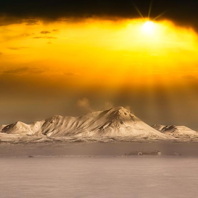 """Icelandic Winter"" stock image"